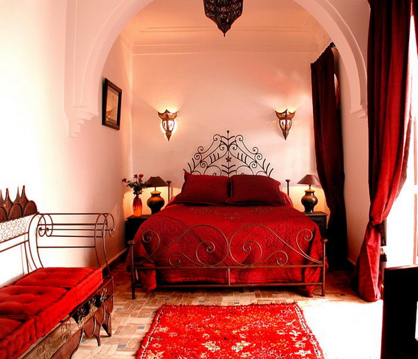 Magnificent Red Moroccan Bedroom Furniture Classic Motives Design