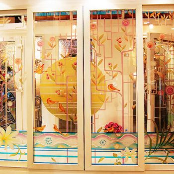 กระจกแกะลาย Carving Glass-Engraved Glass