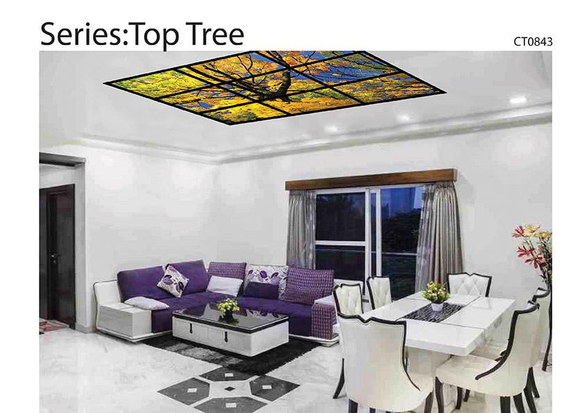 ฝ้าเพดานกระจกพิมพ์ลายไวท์กลาส Ceiling Glass