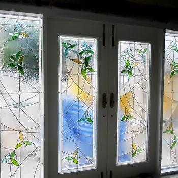 สเตนกลาสรางเงิน Stained Glass ( Silver Rails )
