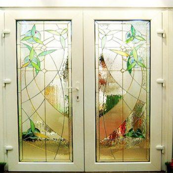 สเตนกลาสรางสองกษัตริย์ Stained Glass ( Two Kings Rails )