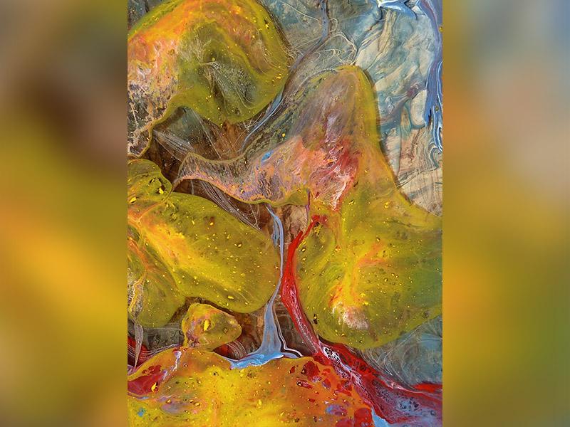 กระจกพิมพ์ลาย Abstract Printed Glass