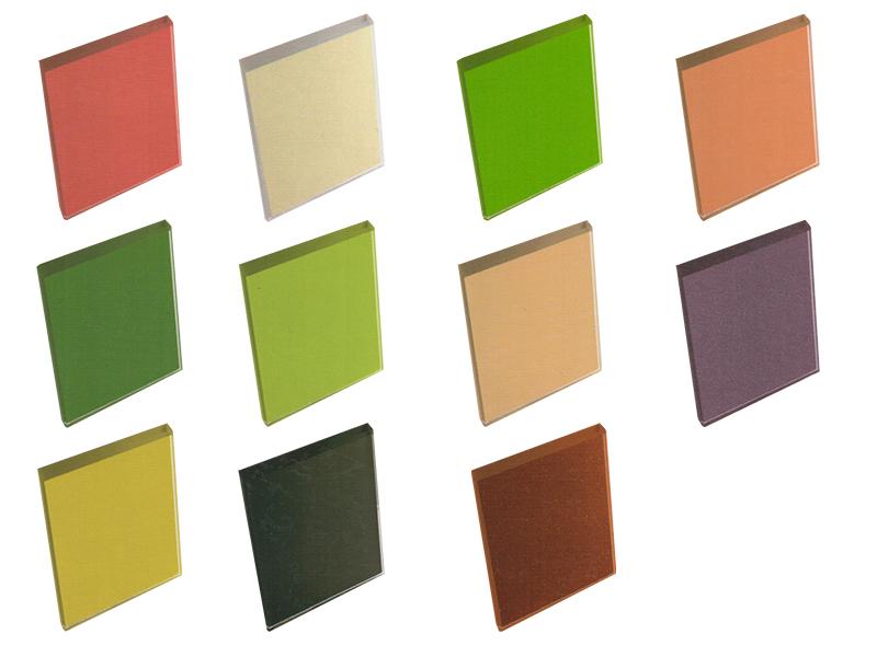 กระจกโค้ดสี Colour Coded Glass