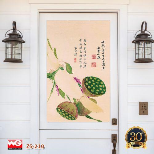 ศิลปะ ธรรมชาติ และ ฮวงจุ้ยในประตู กระจกพิมพ์ลาย White Glass